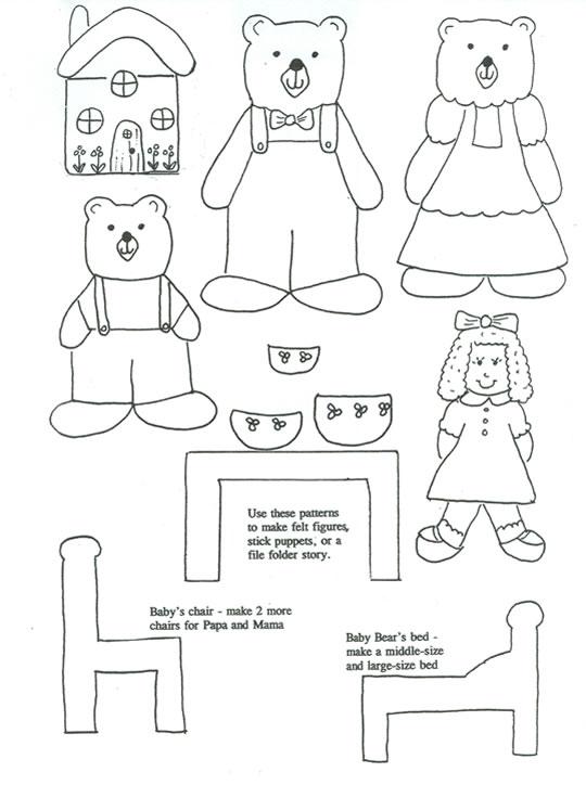 Goldilocks and Three Bears Printables